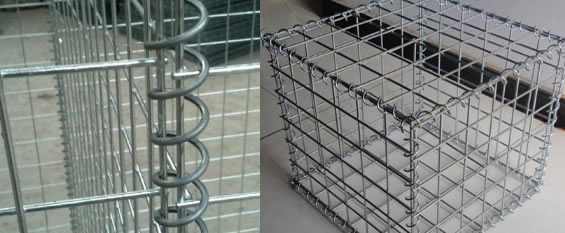 Hot Dipped Galvanized Steel Gabions Retaining Wall Cladding