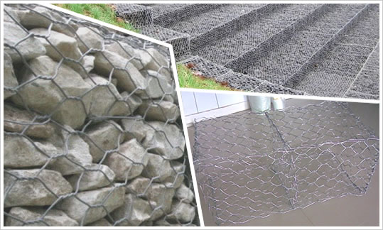 Twisted Gabion Baskets with Hot Dip Zinc Coating