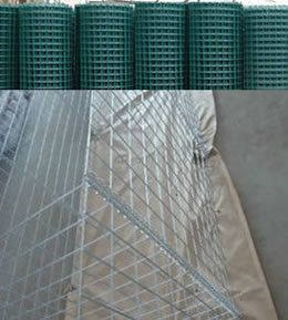 Galvanized and PVC Coated Welded Mesh Panels for Making of Gabions